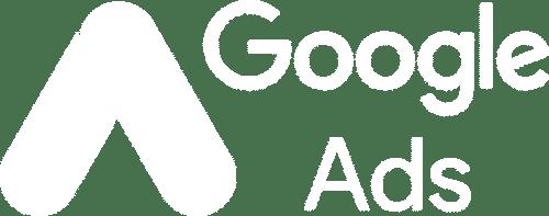 google ads white logo